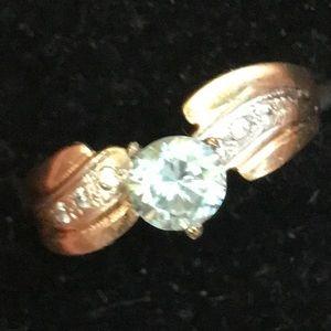 18k ring Moissanite 0.80